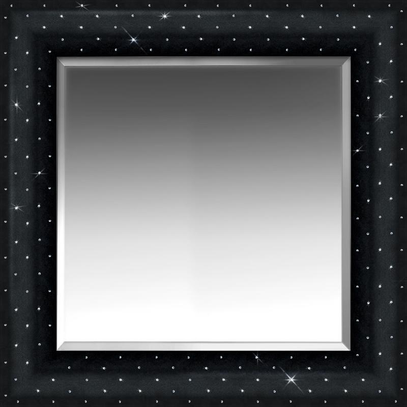 Eccopelle con cristalli Swarovski Nera