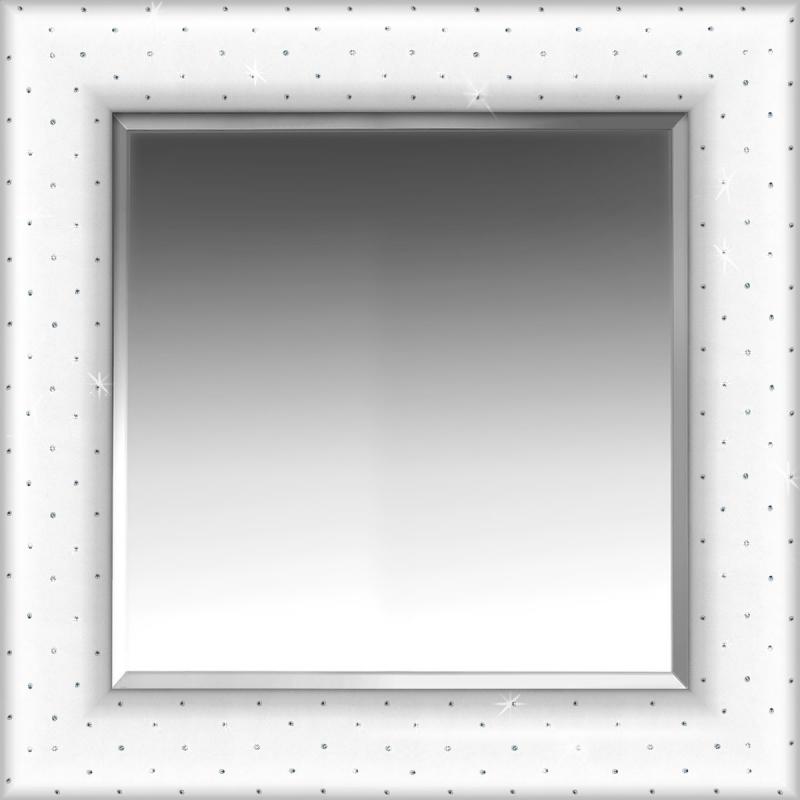 Ecopelle con cristalli Swarovski Bianca